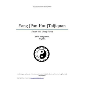 Yang Pan Hou Taijiquan Manual (Downloadable Product)
